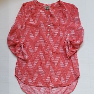 Como Vintage 3/4 Sleeve Tunic Top